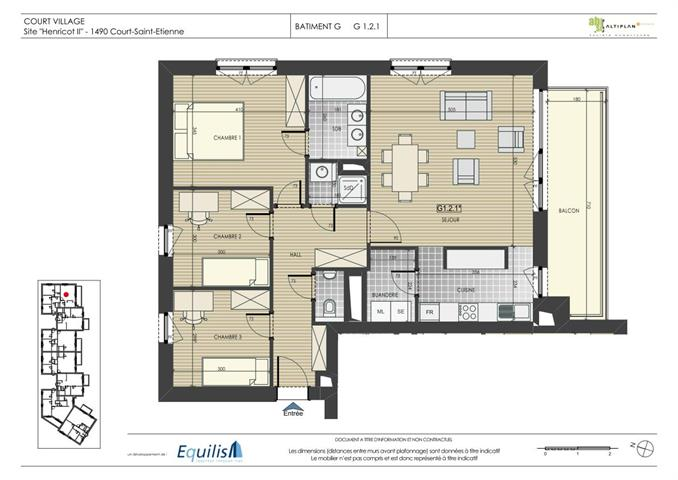 Appartement - Court-Saint-Etienne - #2071897-0
