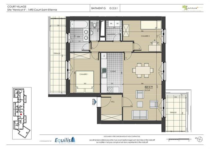 Appartement - Court-Saint-Etienne - #2071915-0