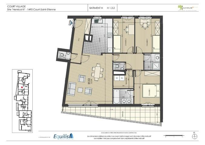 Appartement - Court-Saint-Etienne - #2078896-0