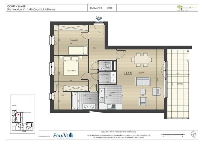 Appartement - Court-Saint-Etienne - #2083741-0